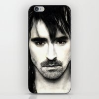 lee pace iPhone & iPod Skins featuring Pace Lee in watercolors by Fatima Alshaali