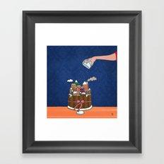 Powdered sugar, not snow! Framed Art Print