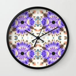 Tender lilac flowers Wall Clock