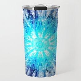 Winter Snow Mandala Travel Mug