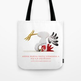 Ardha Mukha Hasta Sirsasana Chicken Yoga Tote Bag