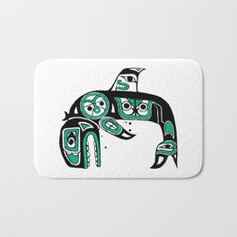 Native American Orca Bath Mat