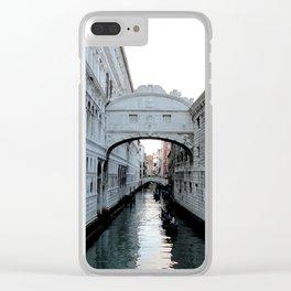 A sigh! (Un suspiro!) Clear iPhone Case