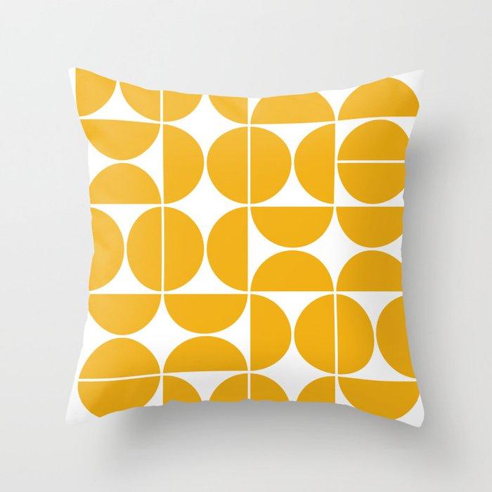 Mid Century Modern Geometric 04 Yellow Throw Pillow by theoldartstudio