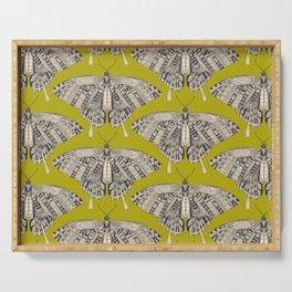 swallowtail butterfly citron basalt Serving Tray