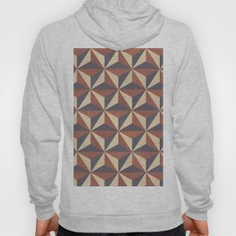 Brown, Tan and Black Geometric Pattern Hoody