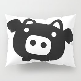 Pigs Will Fly (b&w) Pillow Sham