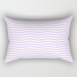 Chalky Pale Lilac Pastel and White Chevron Stripes Rectangular Pillow