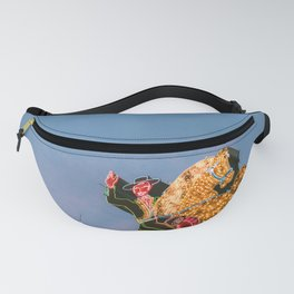Cowboy on Horse Neon Sign Fanny Pack
