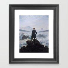 Wanderer Above the Sea of Fog Framed Art Print