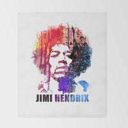JIMI GOD / RED001 Throw Blanket