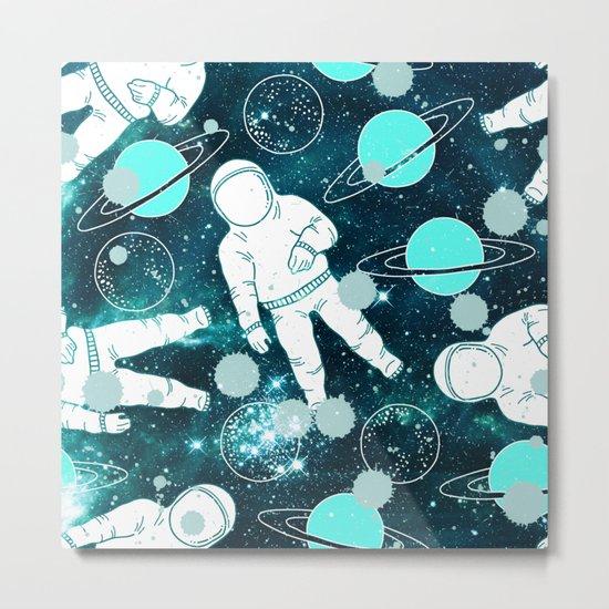 Space Astronaut Metal Print