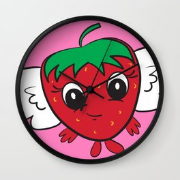FlyBerry Kiddo Pink Wall Clock