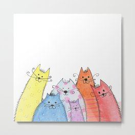 a bunch of cats #2 Metal Print