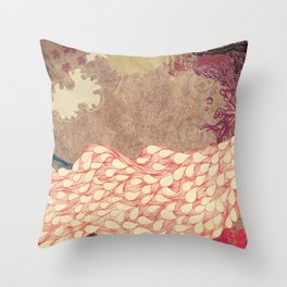 The Red Peacock Throw Pillow