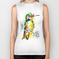 lime Biker Tanks featuring Lime Hummer by Abby Diamond
