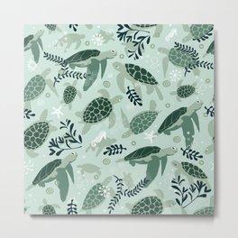 Endangered turtles Metal Print