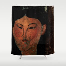 "Amedeo Modigliani ""Beatrice Hastings"" (1915) Shower Curtain"