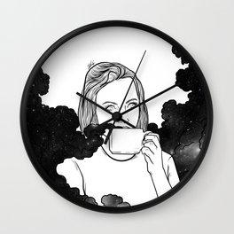 Magical coffee. Wall Clock