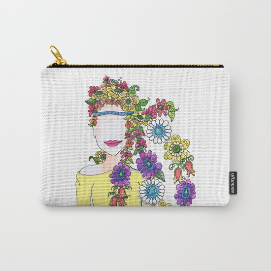 Eighties Girl Carry-All Pouch