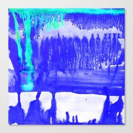 Dip Dye Ultramarine Canvas Print