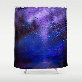 Stormy Night Drive Shower Curtain