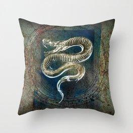 Gothic Snake Skeleton Throw Pillow