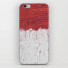 Bleached Brick iPhone Skin
