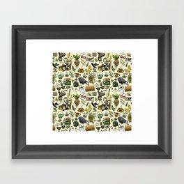 Magical Herbology Framed Art Print