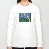 lanterns Long Sleeve T-shirts featuring Impressionist Lanterns by Kimberly Castello