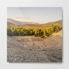 The Great Theatre of Epidaurus Metal Print