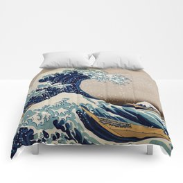 Under the Great Wave by Hokusai Comforters
