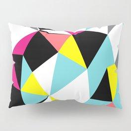 Colorful bright geometrical triangles print Pillow Sham