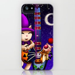 Fusion Keyblade Guitar #182 - Mogry of Glory & Pumpkinhead iPhone Case