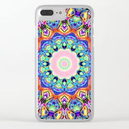 Abstract Spectral Pattern Clear iPhone Case
