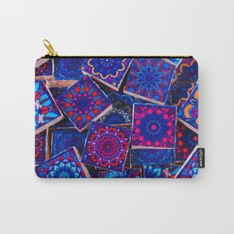 V9 Traditional Special Moroccan Colored Blue Stones - A2 Carry-All Pouch