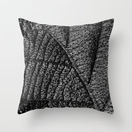The black leaf III Throw Pillow