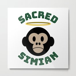 Sacred Simian circle Metal Print