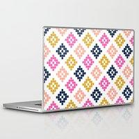 coachella Laptop & iPad Skins featuring Southwest - native aztec geometric pattern print desert tribe festival clothes coachella  by CharlotteWinter