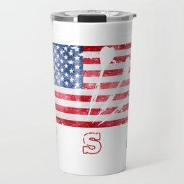 USA Darts - Flag of America Travel Mug