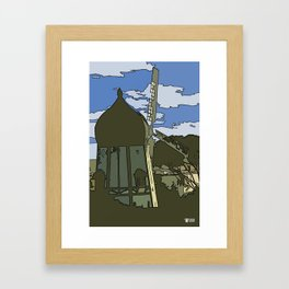 Windmill Comicked Framed Art Print