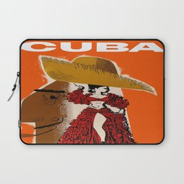 Vintage Travel Ad Cuba Laptop Sleeve