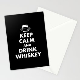 Keep Calm and Drink Whiskey Stationery Cards