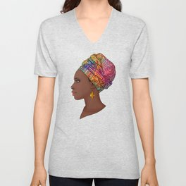 Black African Queen Unisex V-Neck