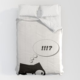 Q the cranky cat  Comforters