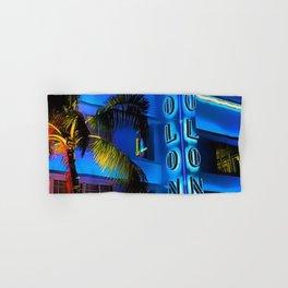 Blue Midnight - South Beach Colony Hotel landscape by Jeanpaul Ferro Hand & Bath Towel