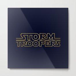 Stormtrooper Typographic Metal Print