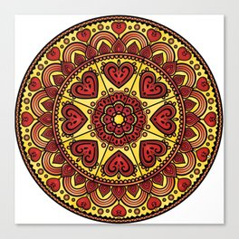 Mandala _ HEARTS Canvas Print