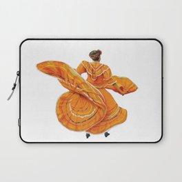 Orange Dress Dancer Baile Folklorico Laptop Sleeve