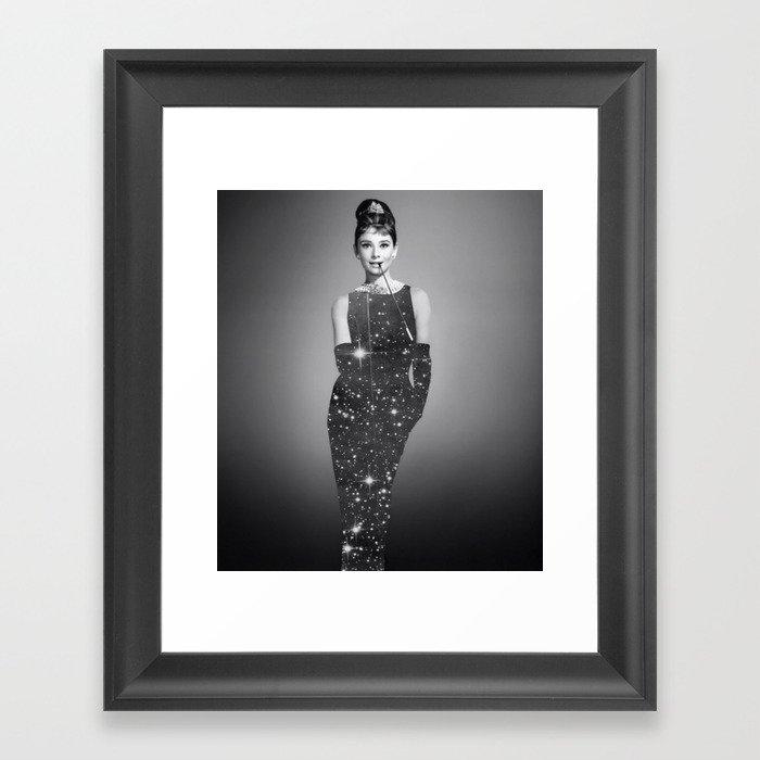 Audrey Hepburn Framed Art Print by lbeb | Society6